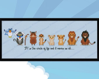 The Lion King parody - Cross stitch PDF pattern