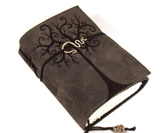 Journal, Leather, Diary, Notebook, Swirl Tree