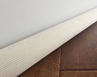 Cream corduroy door draft stopper / Ivory draft guard snake