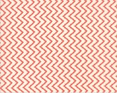 Coney Island - Zig Zag in Candy Apple Red: sku 20284-26 cotton quilting fabric by Fig Tree and Co. for Moda Fabrics - 1 yard