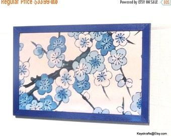 25% OFF Valentine Day Blue Dogwood Cork Board, Blue Flower Cork Pin Board, Flower Tack Board, Cork Message Board, Home Decor, Office Decor