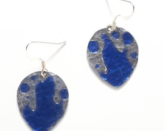 Drops of Water Earrings - Handpainted,statement earrings,cute jewelry,boho jewelry,boho,girlfriend gift,gift for wife,handmade jewelry