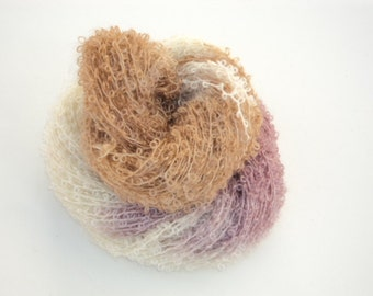 Birthday Cake, Hand Dyed, Hand Painted, Looped, Mohair, Yarn