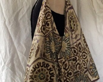 Print Bento Bag, Origami Shopping Bag, Bold Print Shopping Bag, Bento Bag Carryall
