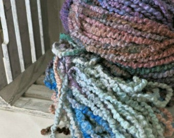 Hand Dyed Alpaca Wool Blend Yarn - Bulky Alpaca Yarn - Cuddles Yarn - OOAK Yarn - Sage Brush