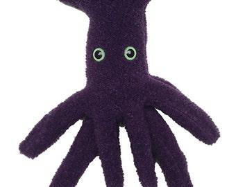 Purple Monster Fur Squid
