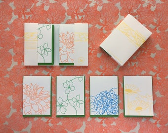 Blossom - eight letterpress note cards