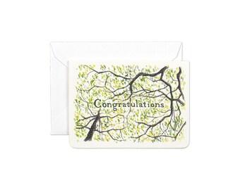 Congratulations Gleditsia Mini Card