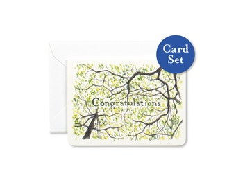 Congratulations Gleditsia Mini Card Set of 8