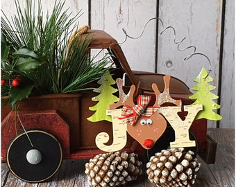 Fun Rustic Reindeer Ornament. Cute Christmas Wood Ornament. Birch Bark Winter Decoration. Christmas Holiday Gift Tag. Gift for Teacher.