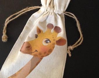 Giraffe Wine Gift Bag