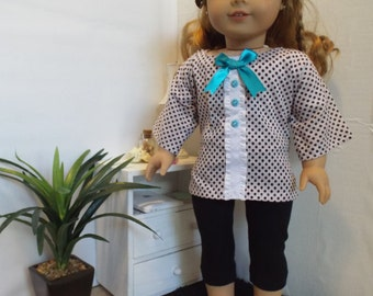 Got Dots? outfit w/leggings Fits AmericanGirl type dolls