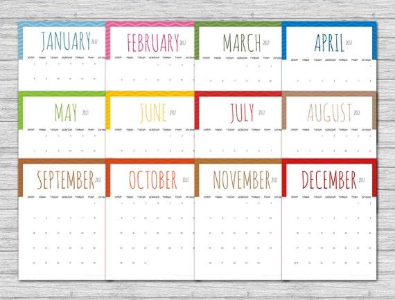 2017 Chevron Calendar