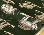 Japanese Fabric - SLOTHS canvas - D - 50cm