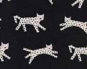Cotton + Steel Black and White - snow leopard - black neon - fat quarter