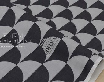 Japanese Fabric Yuwa Suzuko Koseki Shells - charcoal grey - 50cm