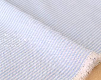 Japanese Fabric - yarn dyed summer stripes  - blue A - 50cm