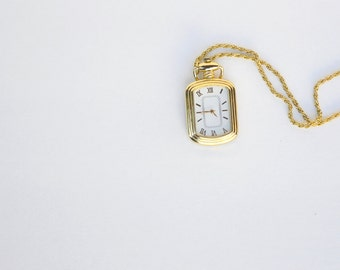 vintage style necklace watch gold chain
