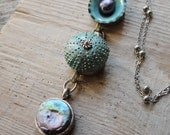 RESERVED for S. Sea Urchin Necklace and Earrings