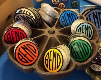 Cute 2-Inch - Bend Oregon - Round Vinyl Bumper Sticker Decal