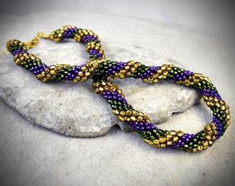 Bead Crochet Rope - crochet necklace - bead crochet - beaded crochet rope - seed bead rope - seed bead crochet - beaded rope - bead rope