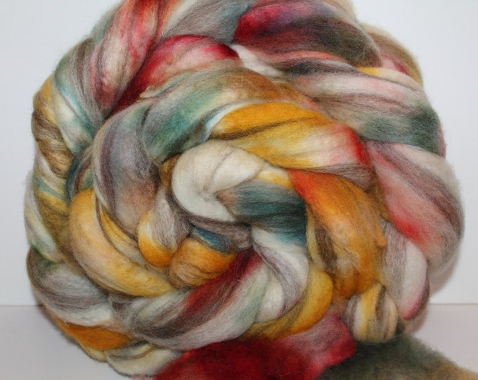 Kettle dyed BFL wool top. Huge 1lb. Braid. Super soft. Spin. Felt. Roving. B32