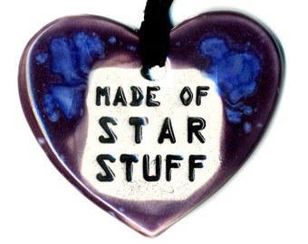 Made of Star Stuff Ceramic Necklace in Purple and Blue
