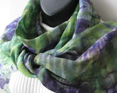 Linen Scarf Hand Dyed Linen Scarf Womens Scarf Spring Scarf Unique handmade gift for her green linen scarf purple boho spring fashion summer