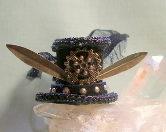 Steampunk Top Hat for Doll House Doll 1:12 Scale Dollhouse Miniature