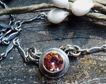 20% OFF Today Anastasia Topaz Necklace - 6mm mystic topaz Anastasia topaz Oxidized Sterling Silver Necklace gemstone necklace