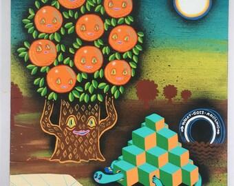 Family Orange Tree and Turtle