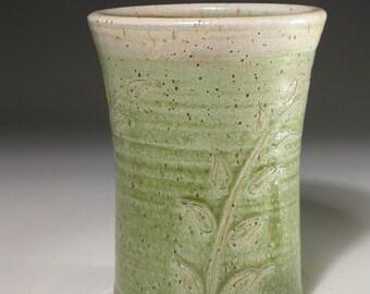 Stoneware pottery vase / utensil holder