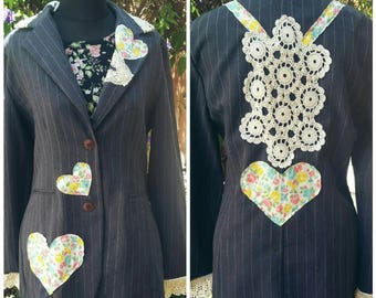Boho Chic Recycled Upcycled Career Spring Blazer