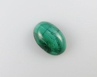 Malachite - Oval Cabochon, 18.10 cts - 12x19 (M188)