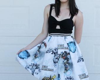 XL Transformers Skirt, Handmade TRANSFORMERS Skirt, DIY 80s skirt, 80s Nostalgia, Geek Clothing, Nerd skirt, Transformers xxl skirt