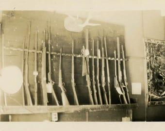 vintage photo 1934 Rifle Gun Rack Store