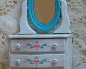 Vintage Doll House Dresser with mirror