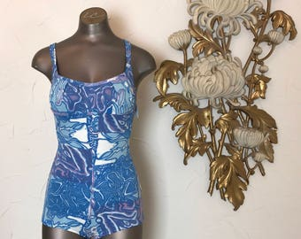 1950s swimsuit cole of California 50s bathing suit vintage swimsuit 1950s maillot one piece swimsuit size x small