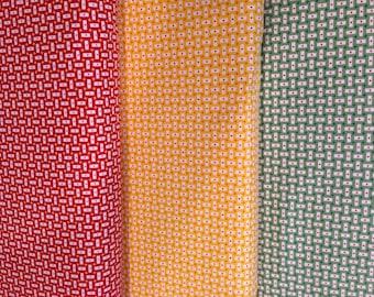 Bread N Butter - From American Jane - Fabric From Moda - Half Yard Set - 3 Prints - 14.95 Dollars