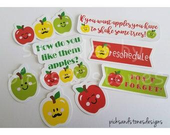 Smirkles by Picks & Stones Apple Die Cuts/ Planner die cuts