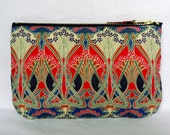 Make Up Bag, Zip Purse, Pouch - Liberty Ianthe Print, Red, Blue, Navy. Ipod and Earphones Case