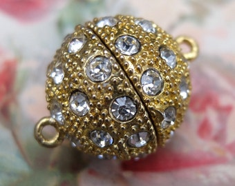 Jewelry Clasp Rhinestone Gold Metal Finding Magnetic