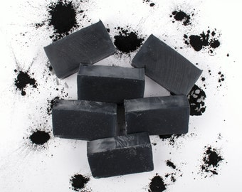 3 Pack - Dead Sea Mud Soap -  Cold Process Soap, Dead Sea Mud, Activated Charcoal, Essential Oil, Facial Soap, Acne, All Natural Soap
