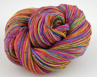 "Bits and Bobs Tweed yarn - ""Crayon Box""    (superwash sock weight) 438 yards 100 grams"