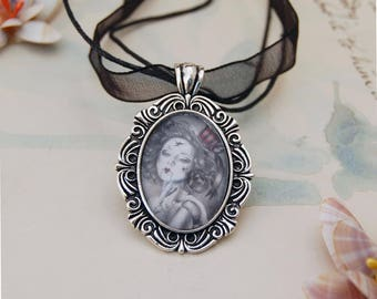 Broken Doll CAMEO Necklace Choker Necklace Victorian Necklace Carnival Doll Necklace Gothic Necklace Fairy Tale Necklace