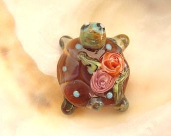 Turtle Bead Handmade Lampwork