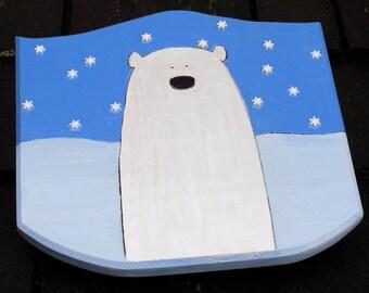 Popular Polar Bear Toy Wooden Shield