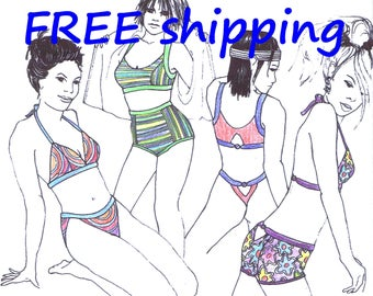 FREE Ship Pattern BIK61 for many BIKINI designs by Merckwaerdigh