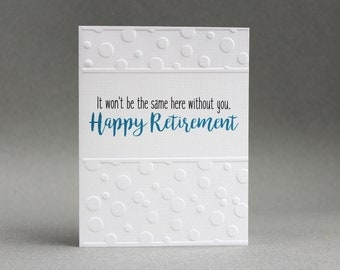Retirement Card/ Retiring Employee Card/ Coworker Card/ Going Away Gift/ Retirement Wishes/ Good Luck Card/ Blank Greeting Card