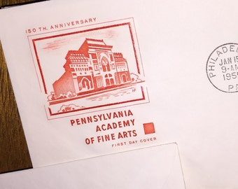 1955 Pennsylvania Academy of Fine Arts First Day Cover Envelope